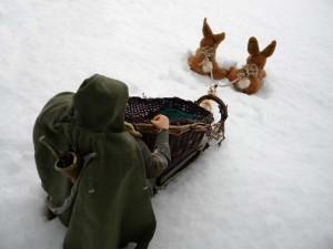 Legolas with bunny sled