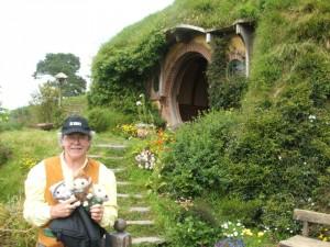 Peter and the Plushies visit Hobbiton