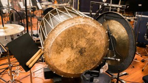 Japanese Taiko drum at the recording of the Desolation of Smaug soundtrack.