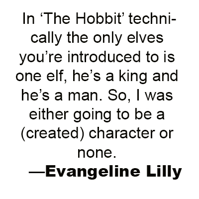 Evangeline Lilly gets personal with TORn about Tauriel and