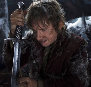 Martin Freeman as the Hobbit Bilbo Baggins.