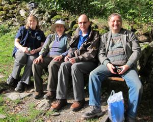 Lunch after Reichenbach, Sandy, me, David, Alex