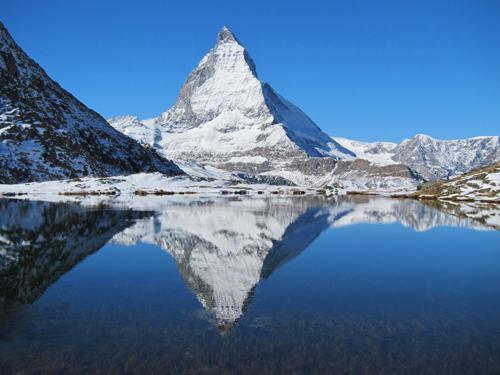 Matterhorn reflected in Riffelsee 2