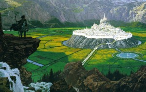 Tuor Reaches the Hidden City of Gondolin, by Ted Nasmith