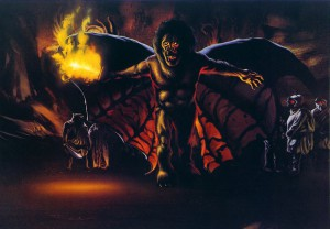 Lord of the Rings concept art. Balrog by Ralph Bakshi.