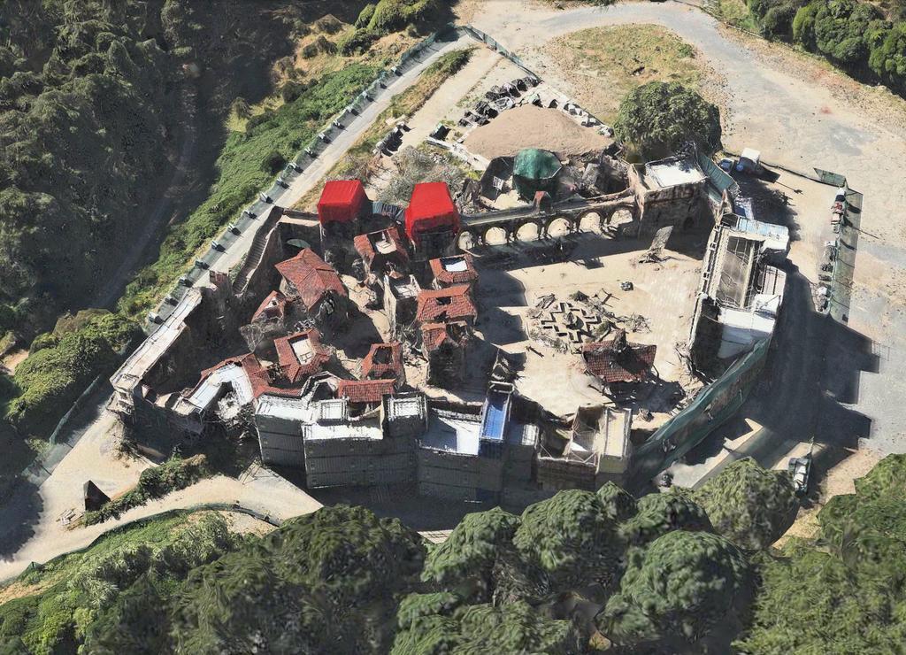 Dale set aerial view