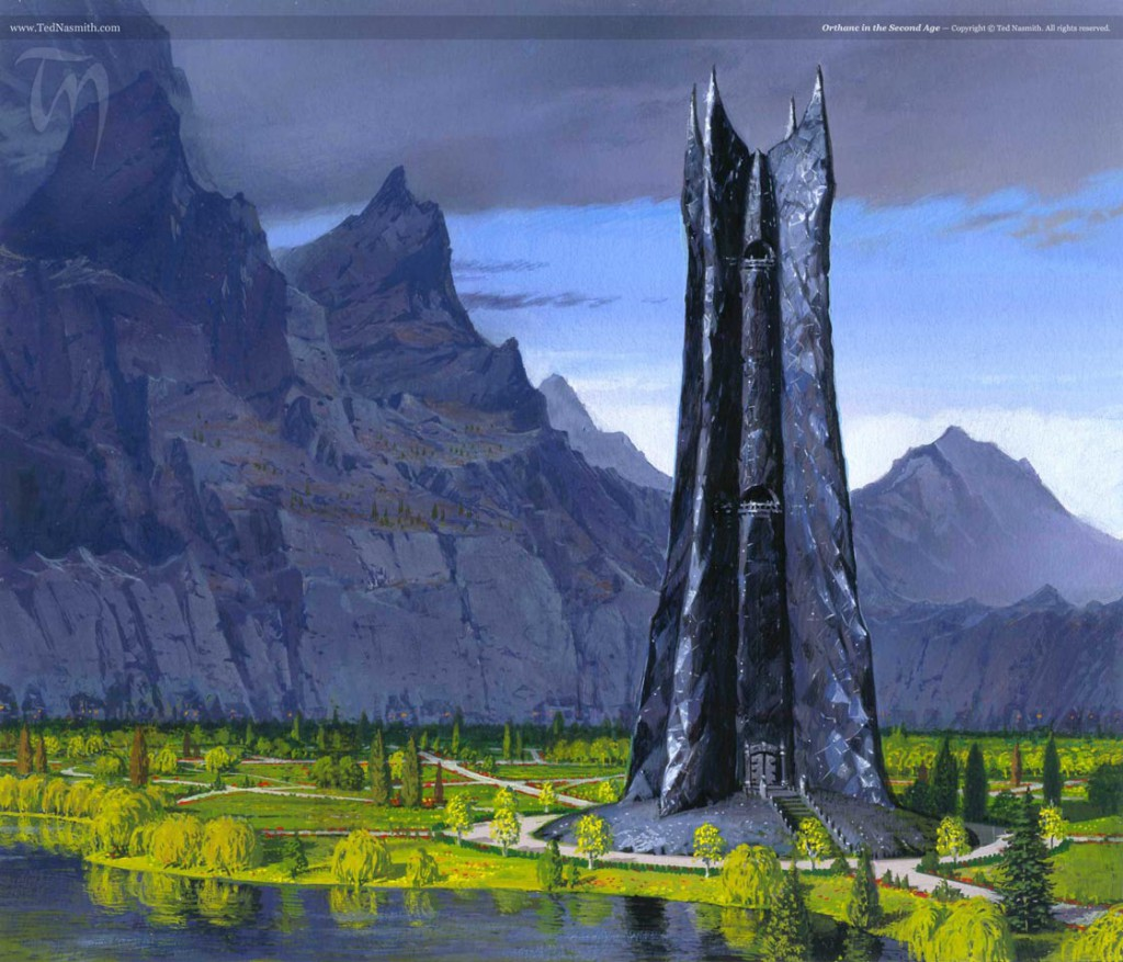 Orthanc in the Second Age, by Ted Nasmith