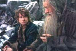 Gandalf and Bilbo sitting