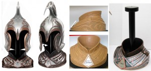 Rivendell Guard Helm Display Design and Sculpture_s