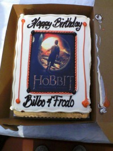 Baggins Birthday Cake
