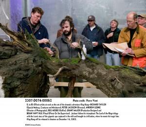 Richard Taylor and Peter with team on King Kong.