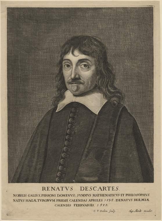 René Descartes. Maker(s): Dalen, Cornelis I van; printmaker; Dutch artist, 1602-1665 Allard, Hugo; publisher; Dutch artist, 1627-1684