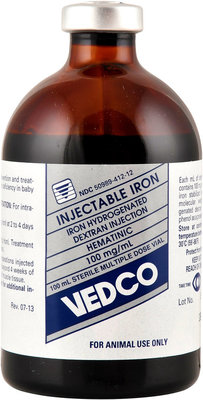 Ferrodex 100 Iron Dextran Injectable, 100 ml