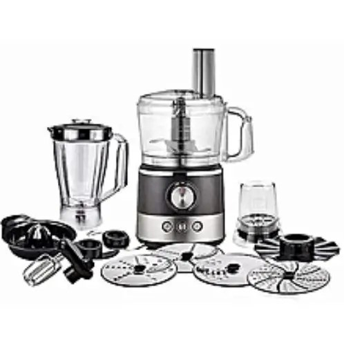Ambiano Food Processor 1000w With Glass Jar Blender And