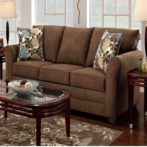 3 seater fabric sofa apartment size sectional canada o2 comfy brown konga online shopping
