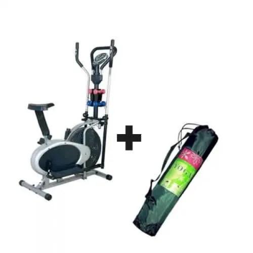 elliptical bike with dumbbell