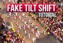 Fake tilt shift tutorial