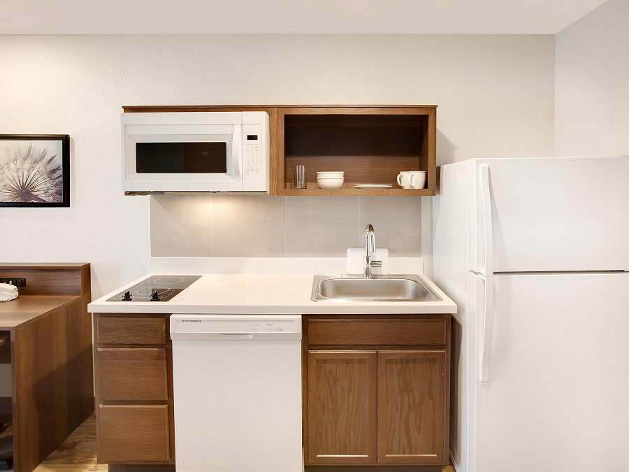 hotels with kitchens kitchen liquid dispenser extended stay woodspring suites in room enhanced