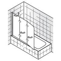HSK Premium Softcube Badewannenaufsatz 3-teilig, Anschlag ...