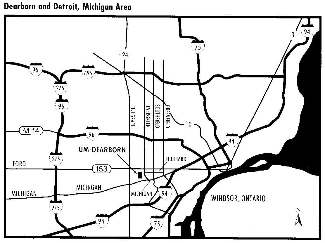 Map Of Ford Campus In Dearborn