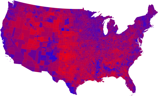 Its not red and blue states, people. The states are purple. It doesnt make much to make the difference.