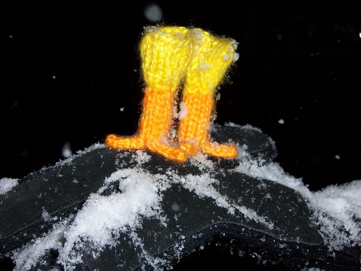 Snowman closeup