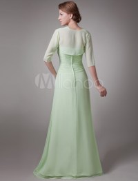 Sage 2-Piece Pleated Chiffon Mother Of The Bride Dress ...