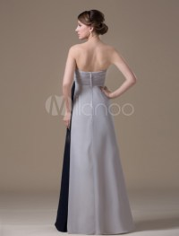 A-line Silver Chiffon Maternity Bridesmaid Dress with ...