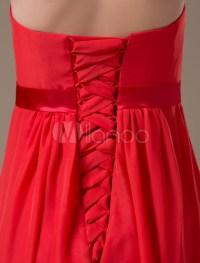 Strapless Red Maternity Bridesmaid Dress - Milanoo.com