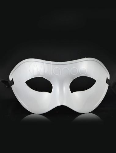 Simple Mens Plastic Masquerade Mask  Milanoocom