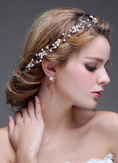 Beaded Headpiece Chain Bridal Headbands Tiara( 47 Cm X 2.5 Cm)
