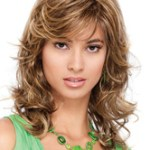 AF-S2-626393 Long Hair Wigs Women's Curly Flaxen Heat Resistant Tousled Synthetic Wigs
