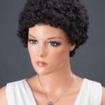 AF-S2-662787 Women's Hair Wigs Black Short Corkscrew Curls Synthetic Wigs