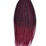 AF-S2-670577 Rope Twist Braid Havana Mambo Crochet African American Dark Red Braid Hair Extensions