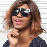 AF-S2-669801 Brown Hair Wigs African American Short Wave Synthetic Wigs With Side Bangs