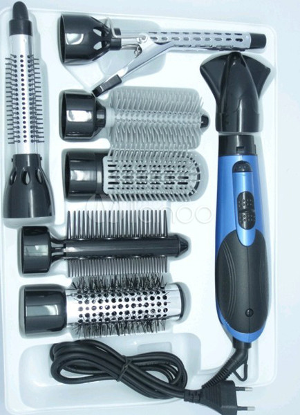 7 Attachment All In One Hot Air Hair Brush Styler Dryer