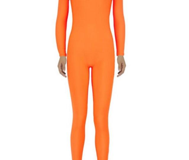 Halloween Orange Zentai Sexy Spandex Jumpsuit For Women Halloween No 1