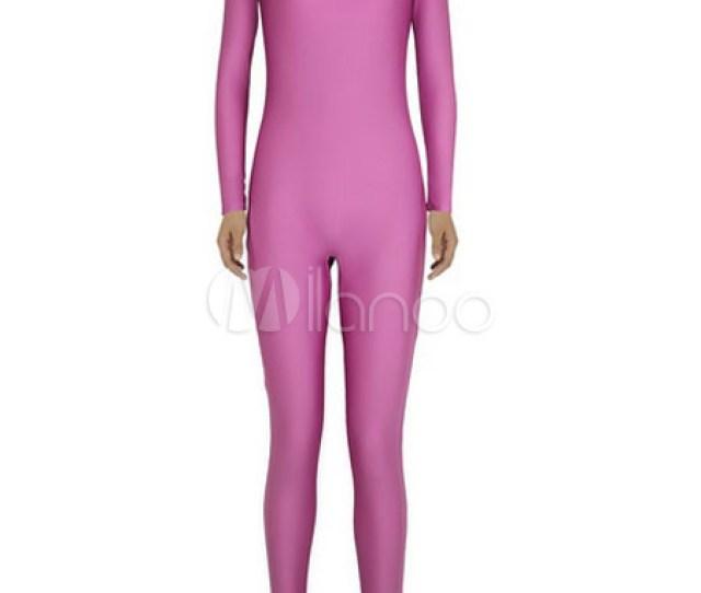 Halloween Fuchsia Zentai Sexy Spandex Jumpsuit For Women Halloween No 1