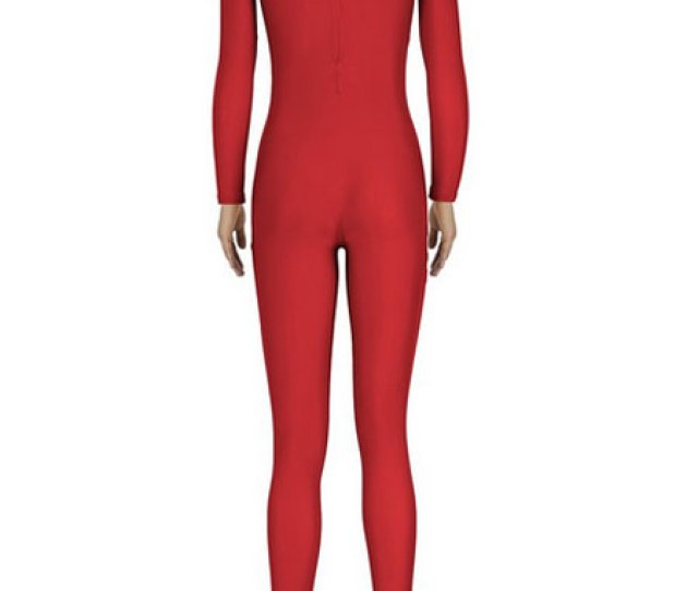 Halloween Red Zentai Sexy Spandex Jumpsuit For Women Halloween No 2