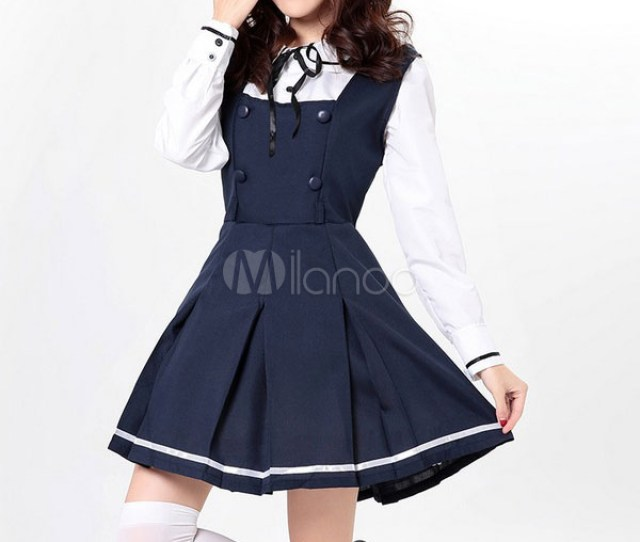 Halloween Sexy Navy Costume Lovely School Girl Jumpsuit Uniforms With Shirts Halloween No 1