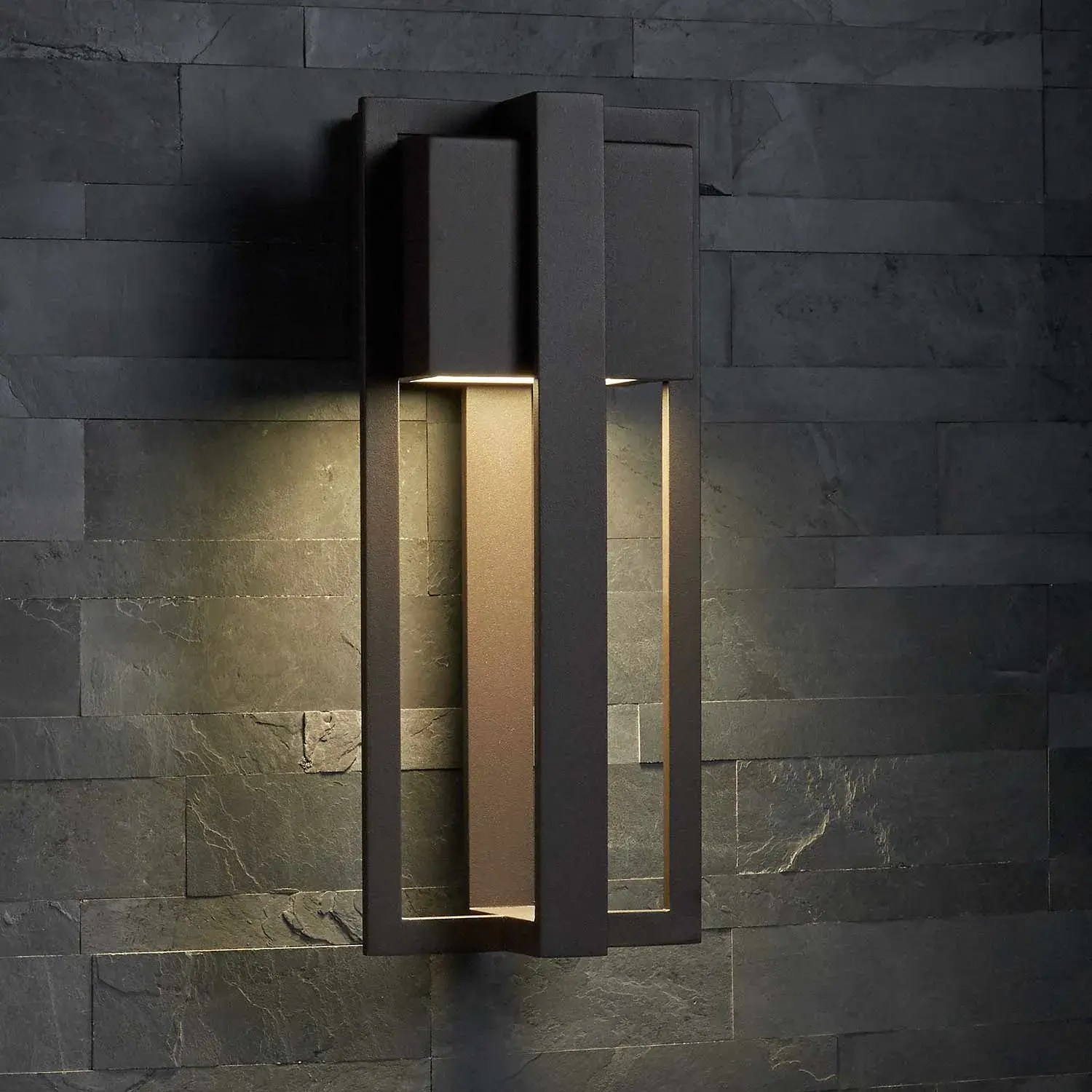 shockoe chocolate bronze outdoor entrance led wall sconce