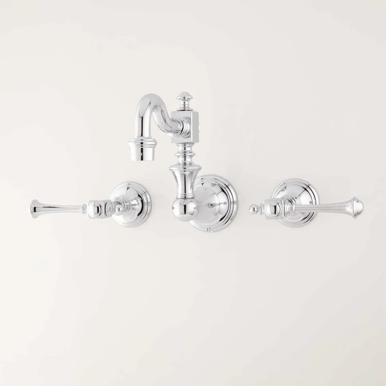 https www signaturehardware com vintage wall mount kitchen faucet with lever handles html