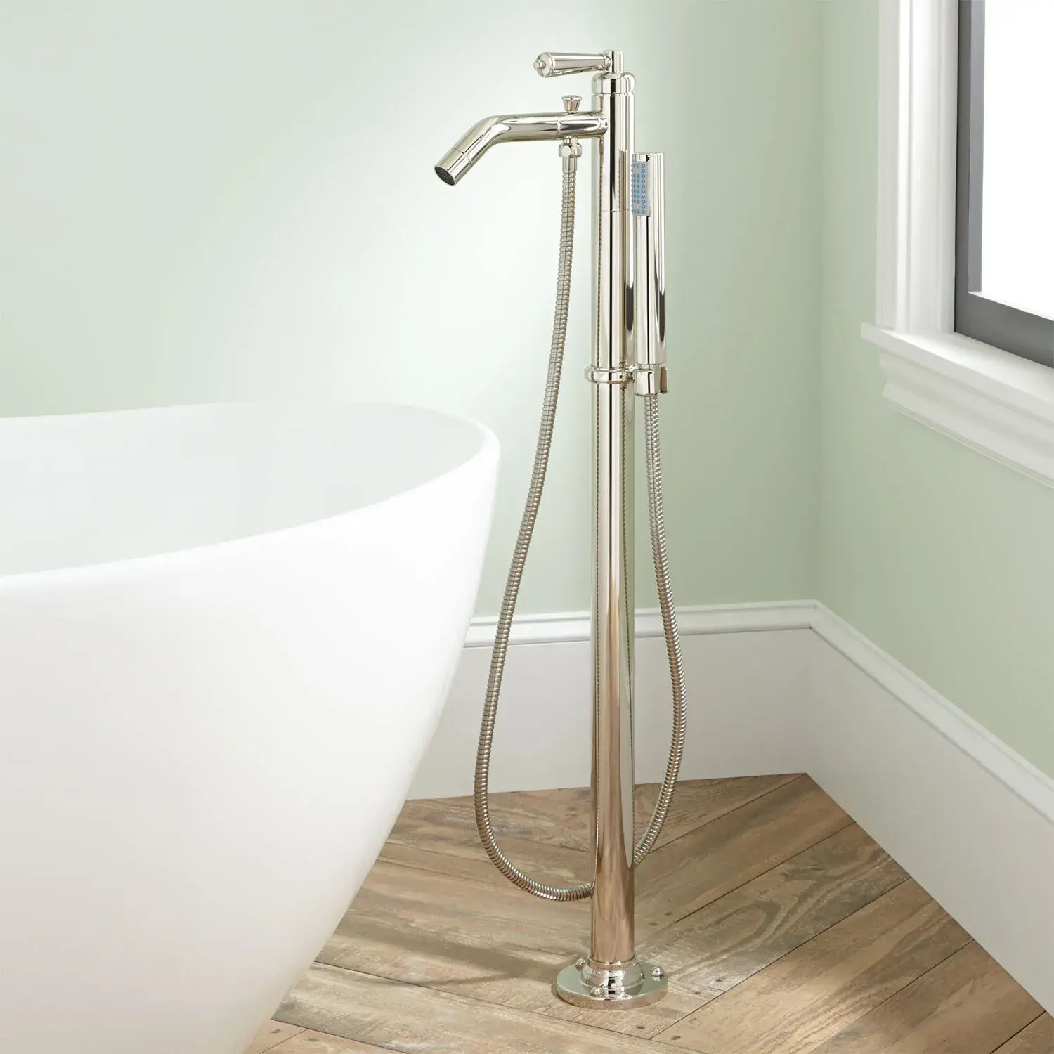 napier freestanding tub faucet and hand shower