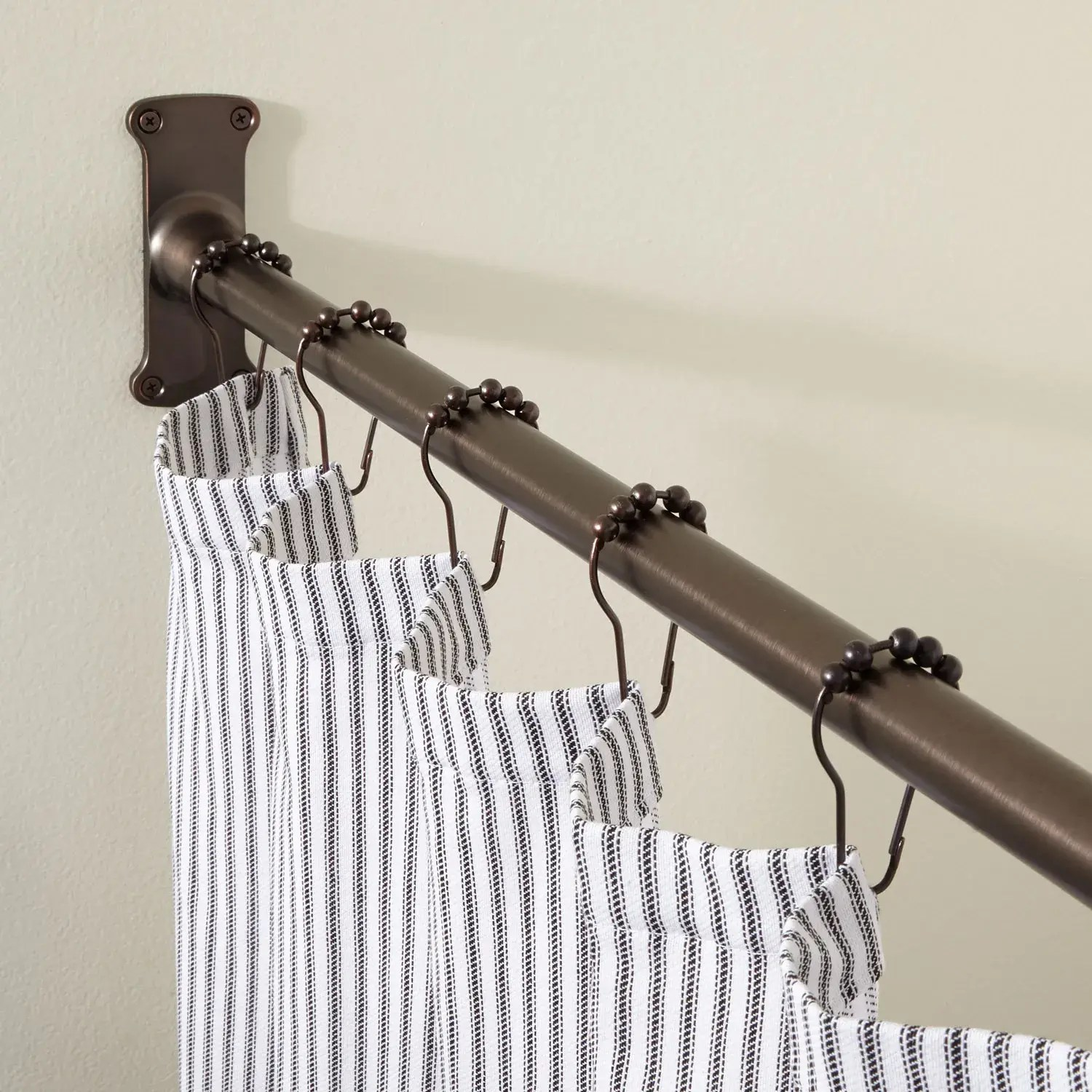 straight solid brass commercial grade shower curtain rod