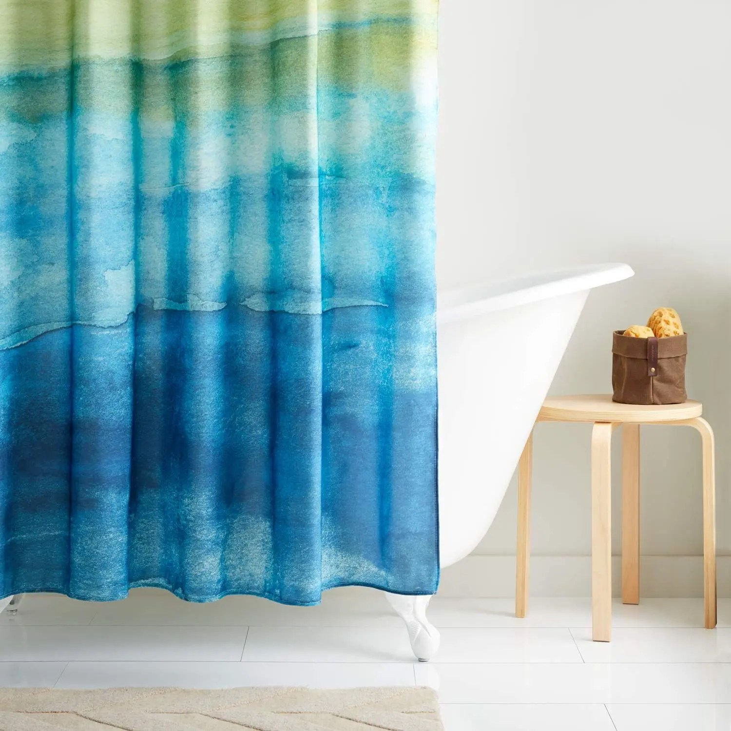 seascape polyester shower curtain