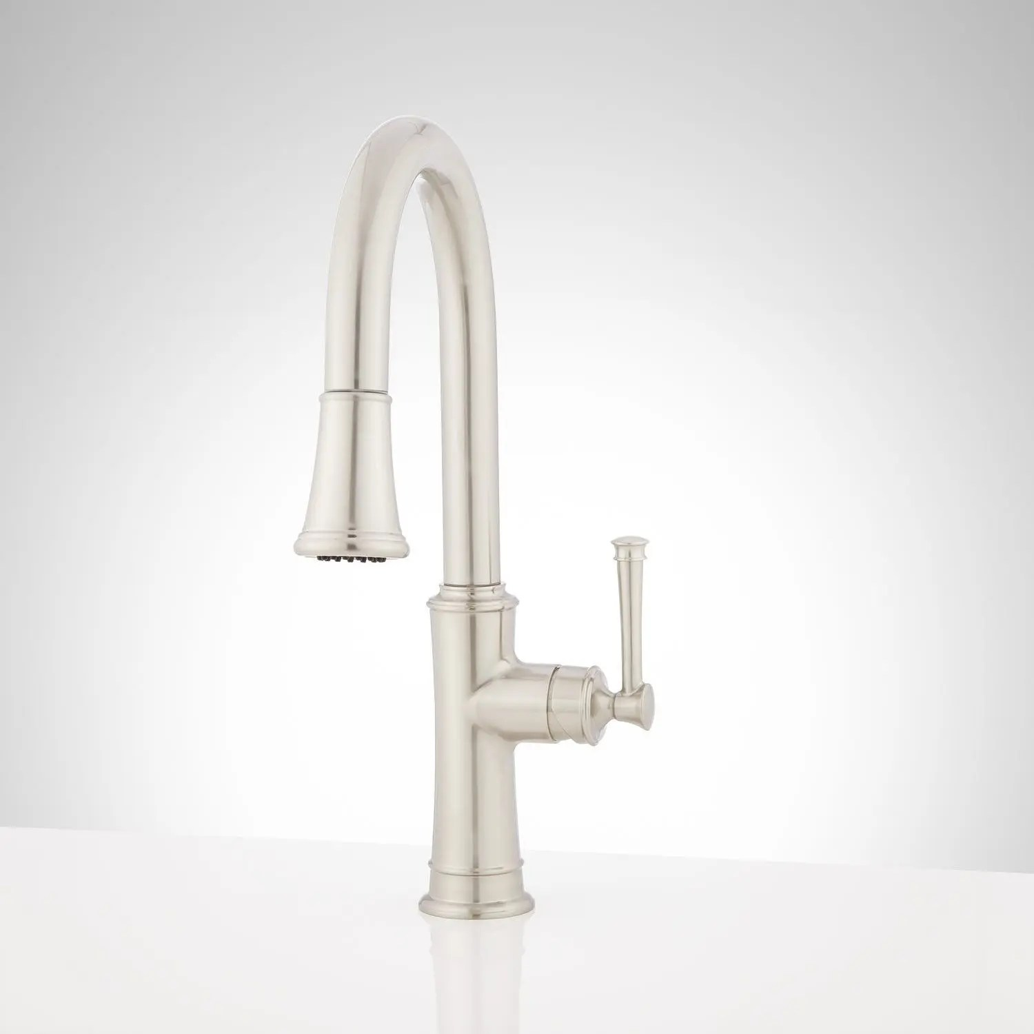 beasley single hole pull down kitchen faucet