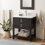 30 Ansel Console Vanity For Rectangular Undermount Sink Rustic Black
