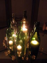 My DIY Wine Bottle Centerpieces | Weddingbee Photo Gallery
