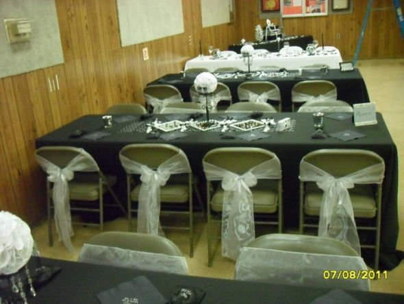 diy organza chair covers gym 3d model sash without a cover double sided tape fixes that problem the close up picture are not folding chairs we used flower had yet been put in set time