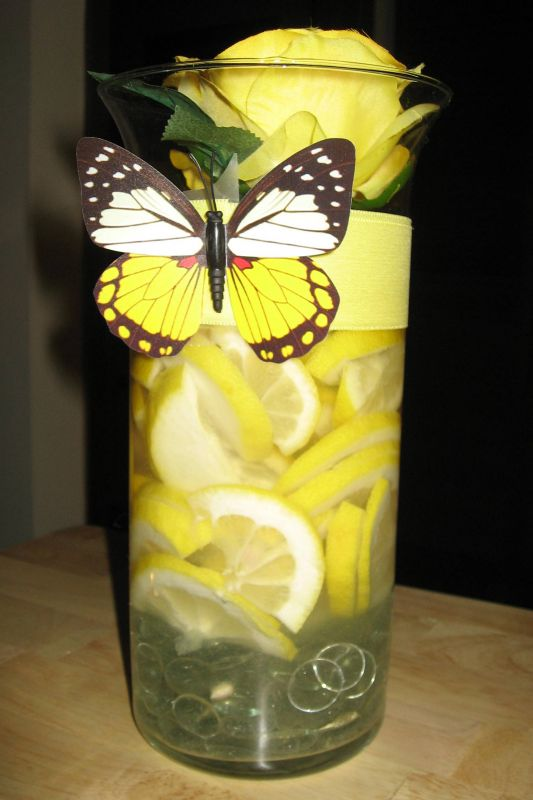DIY Lemon Centerpiece  Weddingbee Photo Gallery